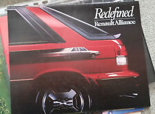RENAULT ALLIANCE ENCORE CATALOGO DEPLIANT BROCHURE USA NOS