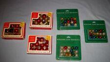 NIP & VTG Lot 89 Christmas Feather Tree Mini Glass Ornaments Hallmark/K Mart!