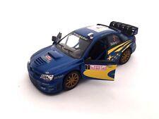 "Subaru Impreza WRC 2007 DieCast model Toy rally car 5"" 1:36 Scale With Pull & Go"