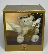 Dillard's Trimmings Animated Angel Cat Fiber Optic Wings Musical Christmas Plush
