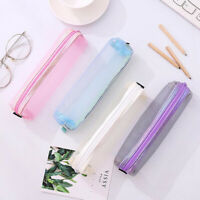 School Exam Pencil Pen Case Bag Pouch Plastic Clear See Through Transparent W