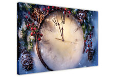 CHRISTMAS CLOCK CANVAS WALL ART PRINTS HOME KITCHEN PICTURES FRAMED POSTERS