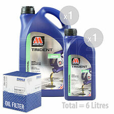 Engine Oil and Filter Service Kit 6 LITRES Millers TRIDENT 10w-40 6L