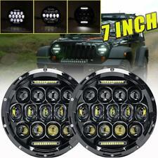 "Pair 7"" inch DOT LED Headlight Hi/Lo For Jeep Wrangler JK JL TJ CJ 97-18 Chevy"