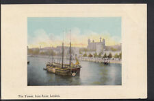 London Postcard - The Tower, From River - Pritchard & Co Advertising Card B1058