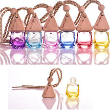 CAR HANGING AIR FRESHENER PERFUME FRAGRANCE DIFFUSER EMPTY GLASS BOTTLE LIVELY