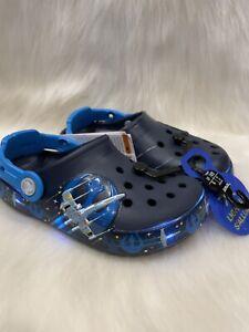 NEW CROCS Crocband Star Wars Light Up Kid's C11 Shoes NWT Luke Skywalker Saber