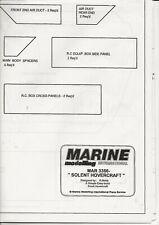 SOLENT HOVERCRAFT  MODEL BOAT PLANS  MAR 3356