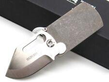 Boker Titanium KTK Dog Tag Straight 440C Folding Pocket Knife 01BO210