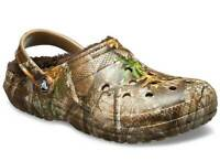 Crocs Men's Classic Fuzz Lined Clog Realtree Chocolate Synthetic clogs-and-mu...