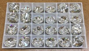 Swarovski Crystal Buttons. Pack of 24 , 18mm . Sew on , 2 hole.Free Postage.