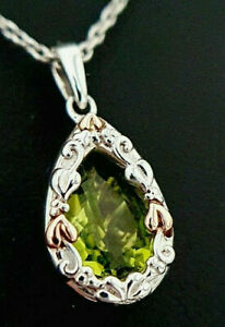 Clogau Gold Silver 9ct Rose Gold Enchanted Forest Peridot Pendant Necklace £209