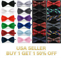 40+ Styles Bow Tie Classic Novelty Mens Adjustable Tuxedo Bowtie Wedding Necktie