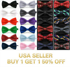 40+ Styles Bow Tie Classic Novelty Mens Adjustable Tuxedo Bowtie Wedding Necktie