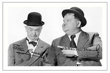LAUREL & HARDY SIGNED PHOTO PRINT POSTER AUTOGRAPH POSTER THE BIG NOISE
