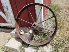 Antique Steel 24 Inch Wagon/Tractor Wheel (1)