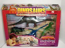Vtg 80s Larami Dinosaurs Tyrannosaurus Apatosaurus Triceratops Plesiosaur Set