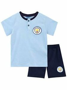 thumbnail 1 - Kids Manchester City Short Pyjamas Boys Premiership Football K
