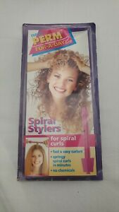 Vintage Perm For A Day Spiral Stylers spiral curls curlers 1997 uptown new