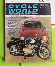 Cycle World Magazine March 1968 MV 600 Ossa Trials Suzuki 250 MT  # 16B