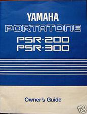 Yamaha PSR-300 PSR-200 Portatone Keyboard Original Owner's Users Manual Book