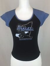Harley-Davidson Womens Small Black T-Shirt Sweetwater H-D National City CA