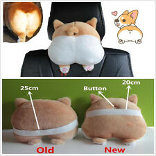 Universal 22cm Cute and Soft 3D Pet Dog Buttocks Car Headrest Seat Neck Cushion
