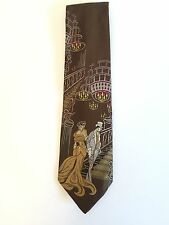 Collectable RICHWOOD COLLECTION TIE Brown Mens Necktie Vintage / Collectable