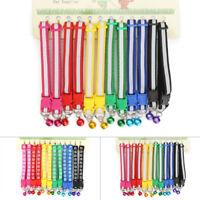 12Pcs 19-32cm Colorful Adjustable Dog Collars Pet Cat Puppy Buckle Nylon Collar