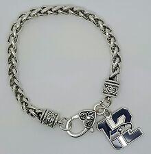 Seattle Seahawks 12th Man Logo Football Dangle Fashion Lobster Clasp Bracelet