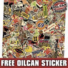 665MM X 665MM  vintage sticker bombing sheet - mr oilcan stickerbombing