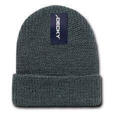 Charcoal Gray GI Watch Cap Beanie Hat Ski Military Winter Cuff Knit Hats Beanies