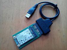 NEW USB micro SATA cable + Mini PCIe m pci-e to mSATA 3x5 SSD micro SATA Adapter