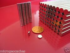 500 Strong Rare Earth Neodymium Disc Magnets 1/4 x 1/16 inch New