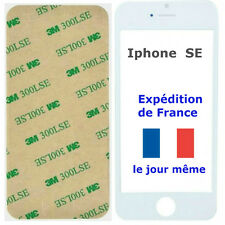 VITRE Avant écran Apple IPHONE SE BLANC + Adhésif 3M - remplacement sur Tactile