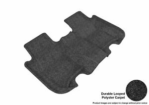 For 09-13 Honda Fit Classic Black All Weather Floor Mat 2nd Row