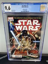 STAR WARS #1 Alex Ross Variant (Marvel, 2015) CGC 9.6 White Pages