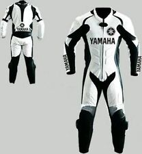 YAMAHA MOTORBIKE RACING LEATHER SUIT CE APROVED PROTECTION