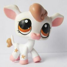 Littlest Pet Shop LPS Animals Collection Loose Toy Farm Cow #1210 Spots Eyes