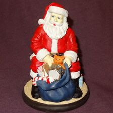 """Santa Claus Sitting with open bag of Toys Figurine 4"""" Table Top  - Wal-Mart"""