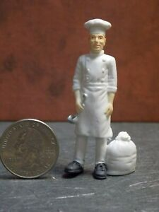 Dollhouse Miniature Figure Man Cook Chef 2-1/2 inch tall B10 Dollys Gallery