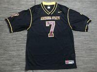 Nike Team Mens Large Arizona State Sun Devils Football Jersey #7 Black