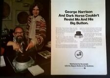 GEORGE HARRISON DARK HORSE LABEL DISTRIBUTION DEAL PROMOTIONAL PAGES 20.11.1976