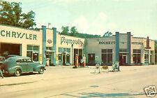 "1940's CHRYSLER PLYMOUTH DEALER ""ROCKET MOTORS"" CHEVRON RPM SERVICE STATION"