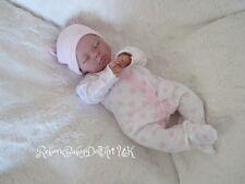 Newborn Reborn Baby GIRL Doll sleeping ... #RebornBabyDollArtUK