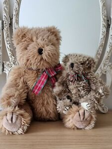 Vintage, large 40cm 'TY' Teddy Bear with jointed legs + 20cm Richard Lang Teddy