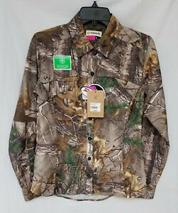 New Women's Magellan Eagle Pass Delux Long Sleeve Camo Shirt Realtree Xtra