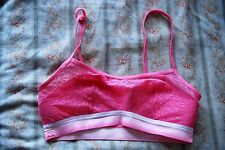 Tezenis pink lace sporty bra UK 10/12