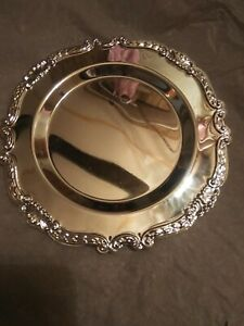 "Home Shopping Network 7"" Silver Plated Charger Plates Set of 8"