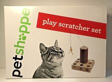 Cat Play Scratcher Set Post Pole String Feather Ball Maze Kitten Toy New